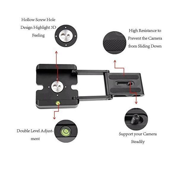 EXMAX Z スタンド ホルダー 三脚 フレキシブル パン チルト ボールヘッド スライドレール カメラ ビデオカメラ 1/4インチ 3/8インチ