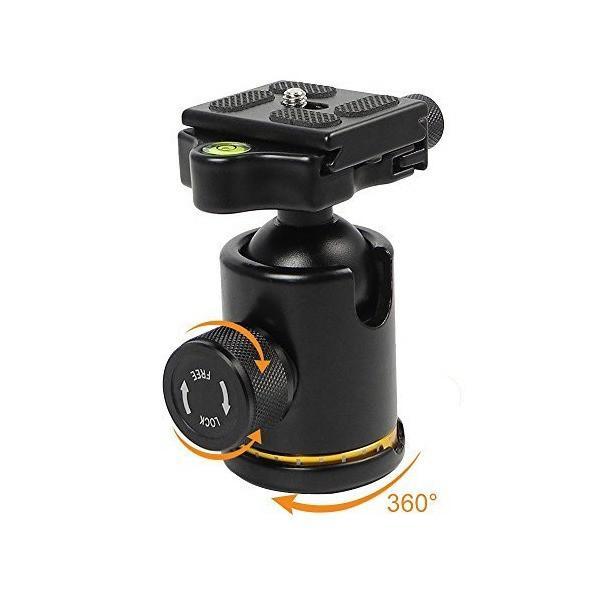 [MENGS] BH-12 雲台+クランプ+クイックリリースプレート,DSLRカメラと三脚ヘッド用