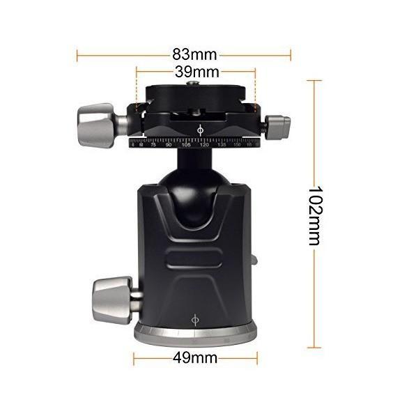 [MENGS] X-36 360°回転 カメラの雲台 クイックリリースプレート付き, DSLRカメラと三脚用