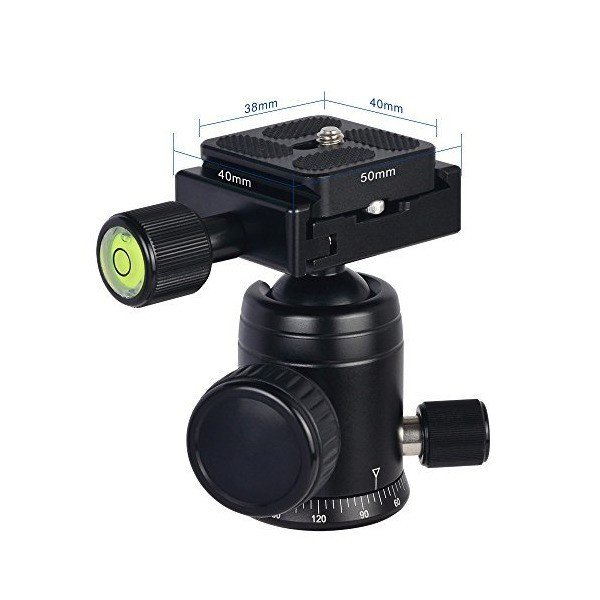 [MENGS] X-29 ブラック 雲台 + クランプ + クイックリリースプレート アルミニウム合金素材 , DSLRカメラと三脚ヘッド用