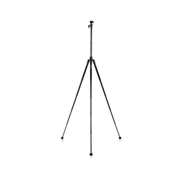 Kingjoy カメラ三脚 折り畳み式 5段伸縮 158cm 中心軸反転可能 自由雲台 収納袋付