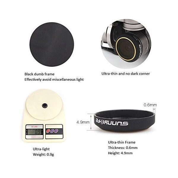 Bestmaple DJI Mavic Pro ドローンのカメラ用 偏光フィルター CPLフィルター