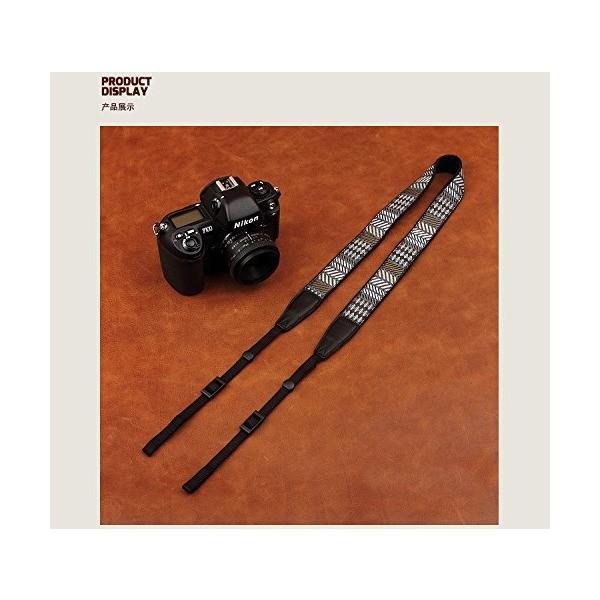 カムイン(cam-in) カメラストラップ  刺繍 シリーズ 汎用型 コットン CAM8486