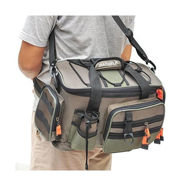(kakuma)フィッシングバッグ 多機能 大容量 軽量性 防水性 釣り用バッグ ウエストバッグ 釣り用 ショルダーバッグ 釣り道具収納バッグ ボル