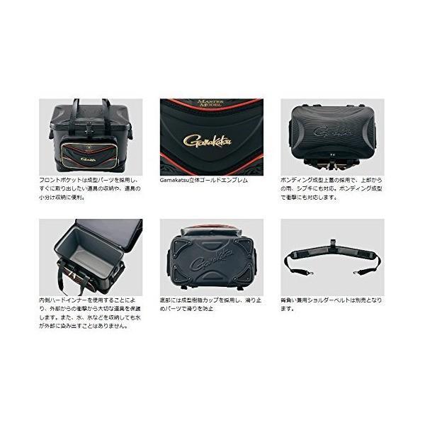 がまかつ(Gamakatsu) 磯バッグ がま磯クール25 GB-321 ブラック
