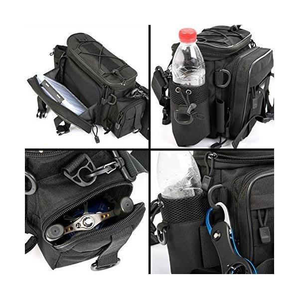 多機能 釣りバッグ 3WAY 釣り袋 フィッシングバッグ 大容量 1000D防水 オックスフォード布 タックルバッグ 釣り用 ヒップバッグ 肩掛け可