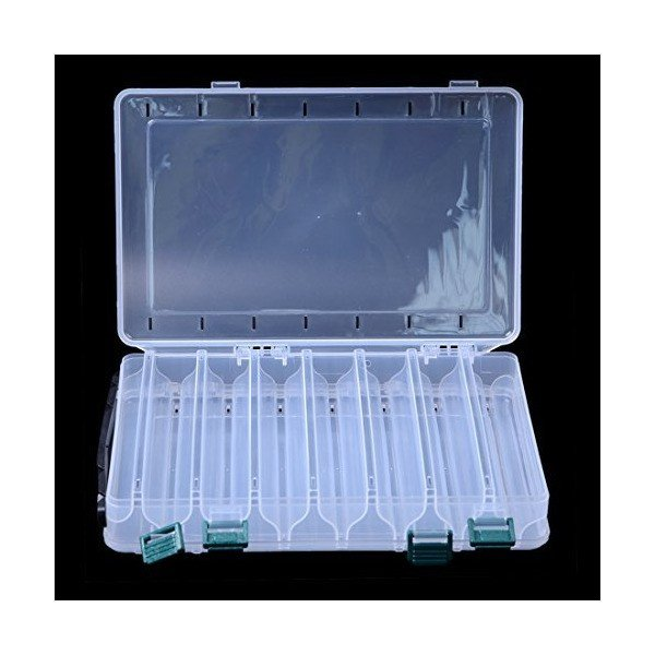 Hicreat リバーシブル アクセサリー 収納 小物収納ケース ボックス 透明 整理箱 パーツ入れ コレクション クリアー 雑貨入れ 蓋付き (1