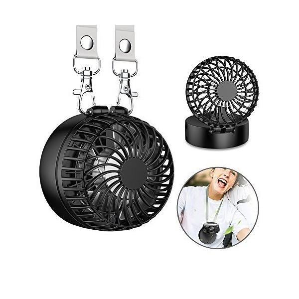 EasyAcc 携帯扇風機 LG2600mAh 首かけ扇風機 折り畳み式 携帯ファン 超静音 超強力 手のひらサイズ mini小型 ストラップ付き|sunsetcandle