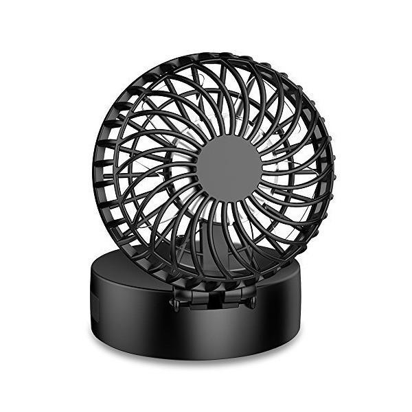 EasyAcc 携帯扇風機 LG2600mAh 首かけ扇風機 折り畳み式 携帯ファン 超静音 超強力 手のひらサイズ mini小型 ストラップ付き|sunsetcandle|02