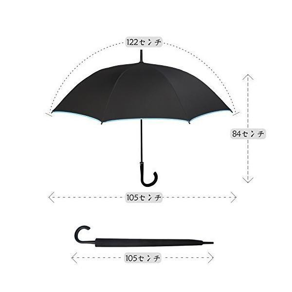 サイベナ Saiveina 長傘 レディース メンズ 雨傘 撥水 自動開 紳士傘 婦人傘 8本骨 耐風 ジャンプ傘(スカイブルー)
