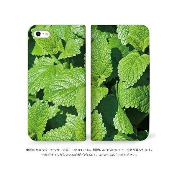 mitas iPhone5s ケース 手帳型 ベルトなし ハーブ柄 ミント (73) NB-0131-MT/iPhone5s