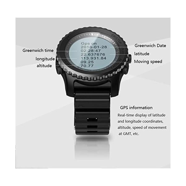 スマートウォッチ新しいスマートウォッチマルチスポーツモードIP68防水心拍数GPS気圧高度温度心拍数、乗馬、水泳、ダイビング (色 : ブラック)
