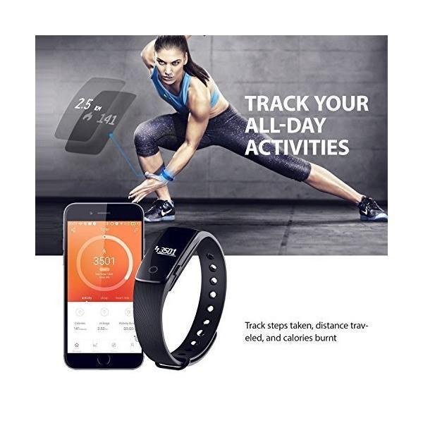 KTYX GPSルート追跡歩数計、スマートフォンアクティビティトラッカー心拍数モニター付きスマートブレスレット スマートウォッチ (色 : 黒)