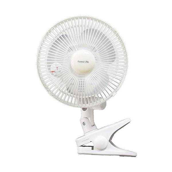 フィフティ フォレストライフ 18cmクリップ扇風機 (風量2段階) FLE-182CY|sunsetcandle|05