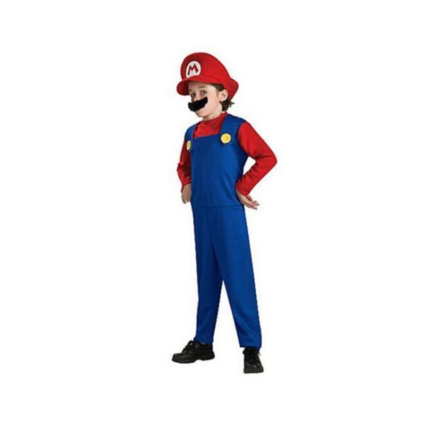 ハロウィン コスプレ コスチューム スーパーマリオ風 supermario マリオ風 Mario 子供用 セット ゲーム 変装  パーティー 大人気|sunsfashion|02