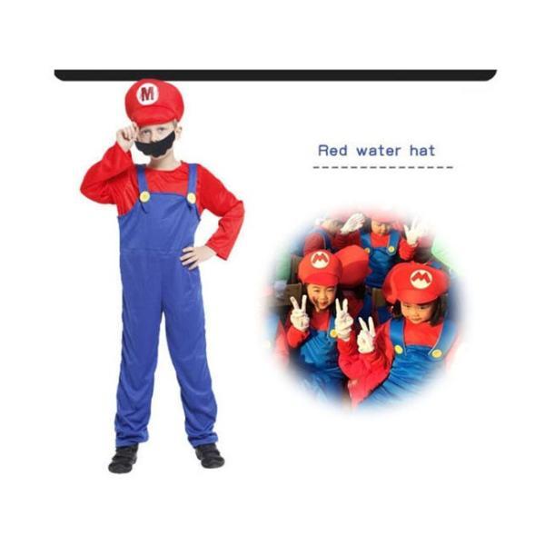 ハロウィン コスプレ コスチューム スーパーマリオ風 supermario マリオ風 Mario 子供用 セット ゲーム 変装  パーティー 大人気|sunsfashion|05