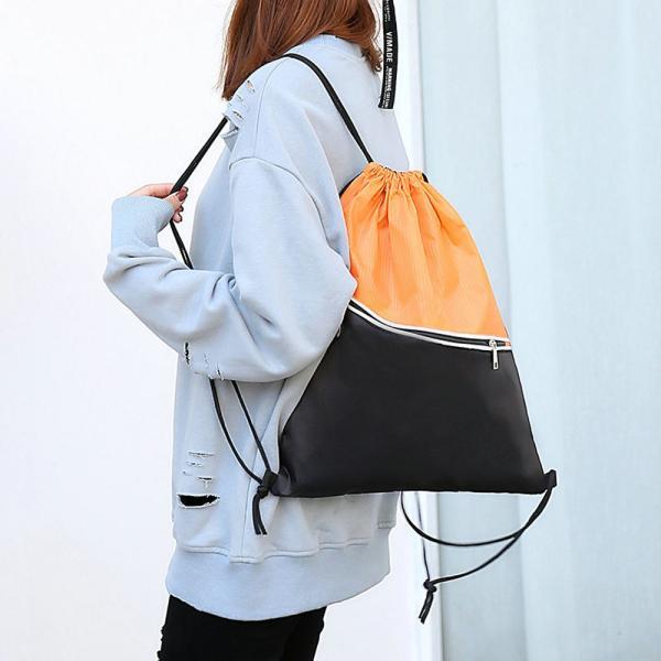 ナップサック スポーツバッグ レディース リュックサック 大容量 巾着 ジムサック【ネコポス可】