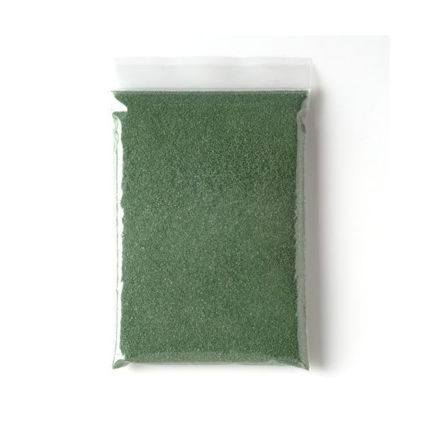 カラーサンド 日本製 デコレーションサンド 中粗粒(0.2〜0.8mm位) Pタイプ ダークグリーン(09) 200g sunsins 04