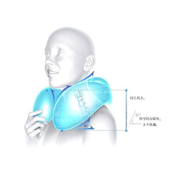MOGU(JP)ネックピロー U型 頚椎肩こり改善 低反発 飛行機・新幹線・電車・オフィス用 旅行用 トラベル枕 洗え|sunsun-happy|05
