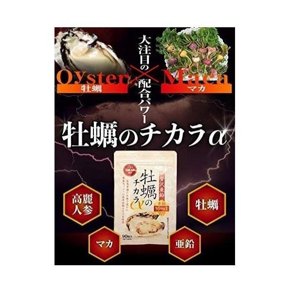 hoconico 贅沢亜鉛 牡蠣のチカラα 1袋 90粒入り (約30日分)|sunsunmarket01|02