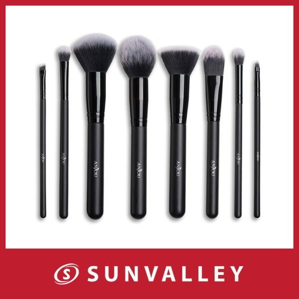 Anjou メイクブラシ 8本セット 化粧筆 フェイスブラシ 高級タクロン 専用ポーチ付|sunvalley-brands-jp