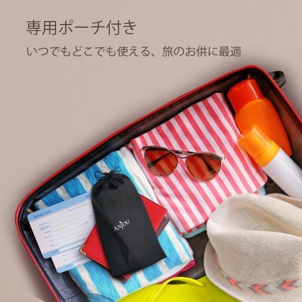 Anjou メイクブラシ 8本セット 化粧筆 フェイスブラシ 高級タクロン 専用ポーチ付|sunvalley-brands-jp|07