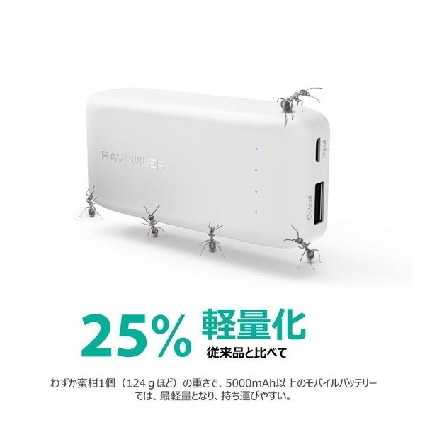 RAVPower 6700mAh モバイルバッテリー 急速充電 iPhone / Andorid 等対応 iSmart2.0機能搭載|sunvalley-brands-jp|04