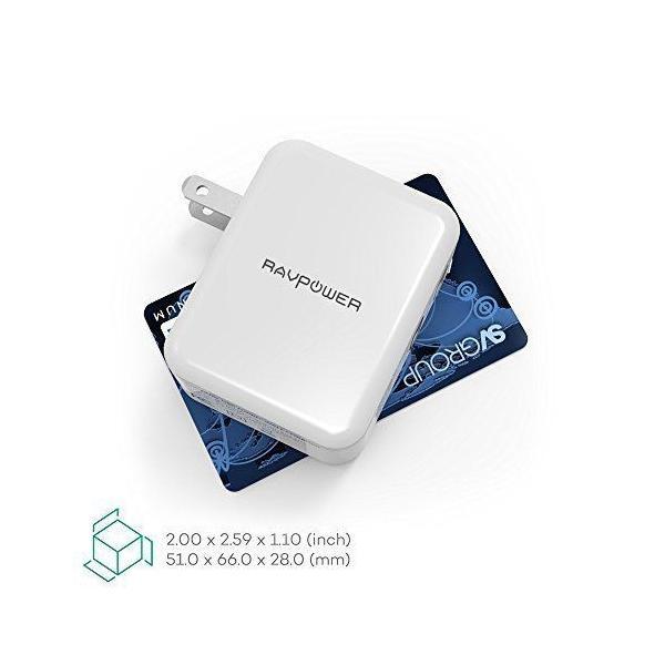 Quick Charge 3.0 急速充電器 RAVPower 30W 2ポート USB充電器 ( 急速充電 iSmart出力自動判別 ) sunvalley-brands-jp 06