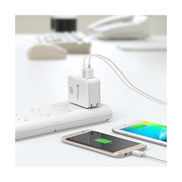 Quick Charge 3.0 急速充電器 RAVPower 30W 2ポート USB充電器 ( 急速充電 iSmart出力自動判別 ) sunvalley-brands-jp 07