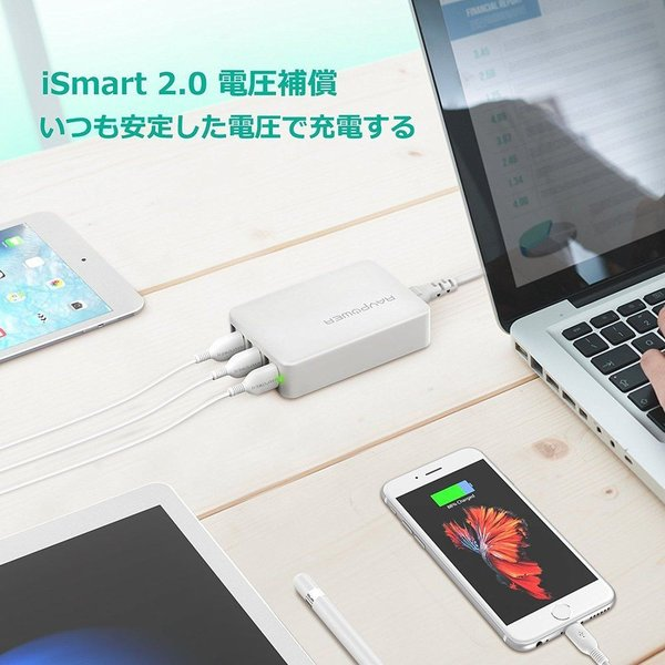 RAVPower USB充電器 (60W 6ポート) USB コンセント 急速 iPhone / iPad / Android 等対応|sunvalley-brands-jp|05