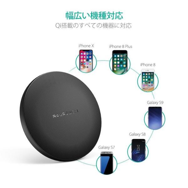 RAVPower Qi 急速 ワイヤレス充電器 ( iPhone X/8/8 Plus/Galaxy S9/Nexus 等対応)|sunvalley-brands-jp|04