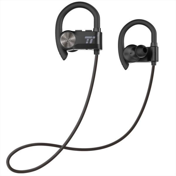 TaoTronics ワイヤレスイヤホン 耳かけ型イヤホン IPX5防水&防汗 8時間再生 イヤーフック付き CVC6.0機能搭載 AptX ロスレスオーディオ スポーツイヤホン sl01