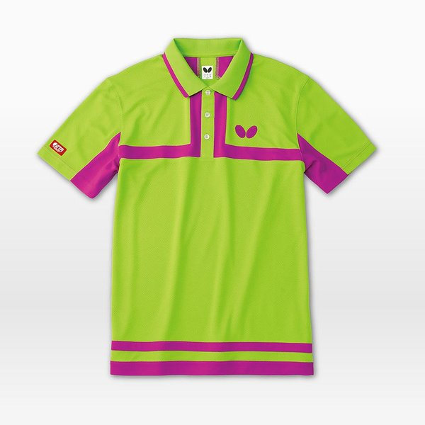 (限定特価) 卓球ユニフォーム バタフライ ポルティエ・シャツ 卓球ウェア ゲームシャツ 男女兼用 キッズサイズ対応 BUTTERFLY 45100|sunward|02