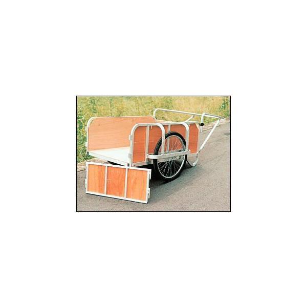 大型リヤカー (強力型)合板パネル付 アルミ製 ノーパンクタイヤ BS-2000G 日本製 リアカー|sunward|02