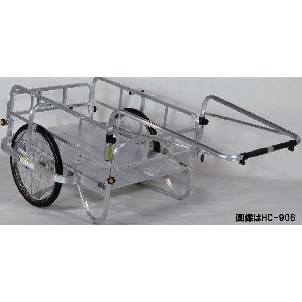 折りたたみリヤカー アルミ製 エアータイヤ HC-906 日本製 リアカー|sunward|02
