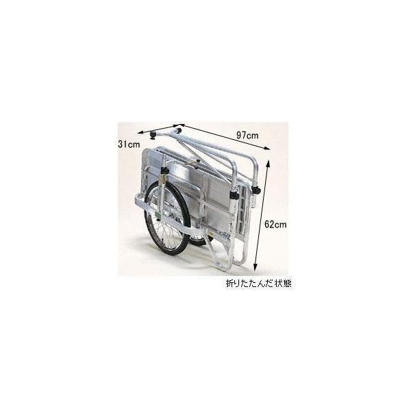 折りたたみリヤカー アルミ製 エアータイヤ HC-906 日本製 リアカー|sunward|03