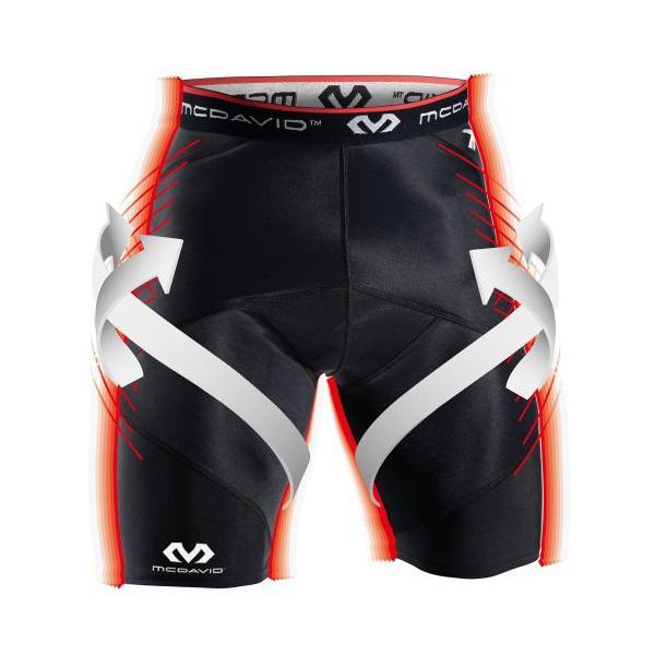 コンプレッション タイツ メンズ マクダビッド McDavid クロスコンプレッション ショーツ スポーツタイツ ショートタイツ トレーニングウェア 8200|sunward|04