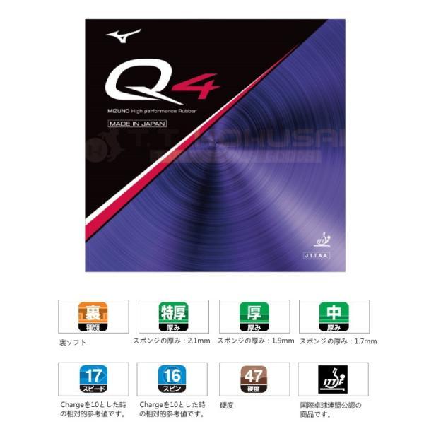 ミズノ Q4 卓球ラバー 裏ソフト 83JRT894 mizuno|sunward|02