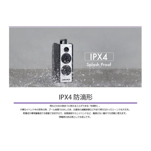 (ポイント10倍)ユニペックス WA-7 Aセット ダイバシティー防滴形ハイパワーワイヤレスアンプ CDプレーヤー(SD/USB)付ワイヤレスマイクセット WA-872CD WM-8400|sunward|04