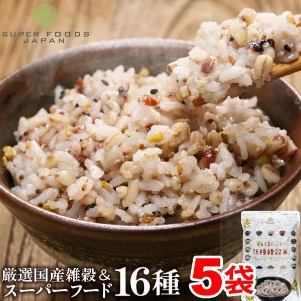 雑穀米 送料無料 国産 もち麦たっぷり16種雑穀米 2.5kg(500g×5)  チアシード キヌア アマランサス ポイント消化