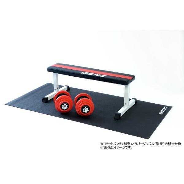 IROTEC(アイロテック)フィットネスマット/ランニングマシン ダンベル 筋トレ ベンチプレス フィットネス トレーニング ルームランナー スピンバイク|super-sports|03