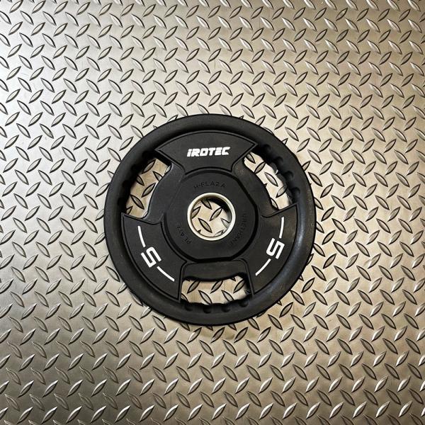 IROTEC(アイロテック)PUオリンピックプレートWOT 5KG 穴径50mm/バーベル ダンベル ベンチプレス 筋トレ トレーニング器具