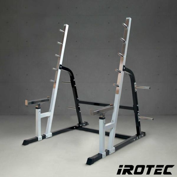 IROTEC(アイロテック)パワースクワットラック/ベンチプレス トレーニング器具 筋トレ トレーニングマシン パワーラック バーベル|super-sports