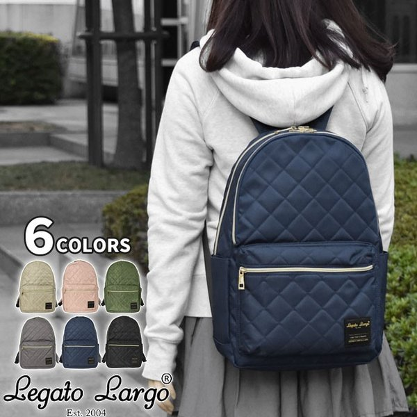 リュック リュックサック レディース ナイロン調 キルティング 10ポケット/Legato Largo レガートラルゴ LS-C2721 正規品 ブランド