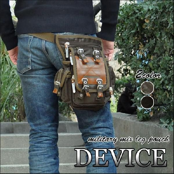 ボディバッグ ボディーバッグ メンズ おしゃれ/DEVICE デバイス/Work レッグポーチ レッグバッグ ウエストバッグ ウエストポーチ
