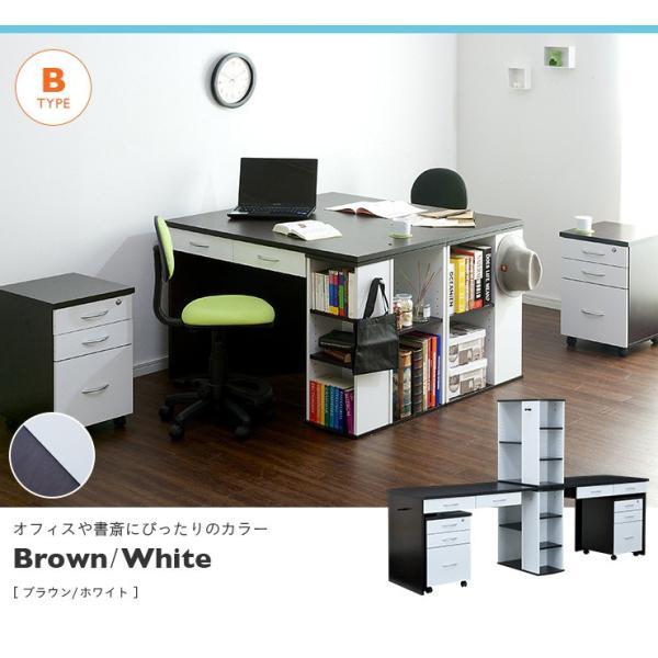 学習机 ツイン 白 勉強机 学習デスク twin desk(ツインデスク) 7色対応 superkagu 06