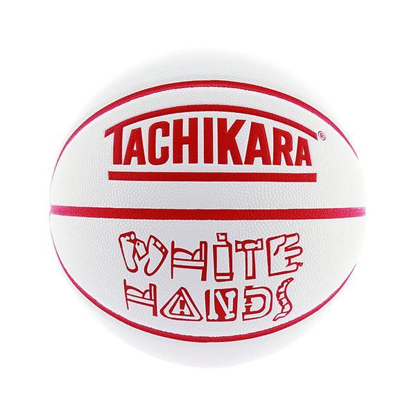 タチカラ(TACHIKARA) バスケットボール 7号球 (一般 大学 高校 中学校) 男子用 WHITE HANDS -RED- SB7-204 (メンズ)