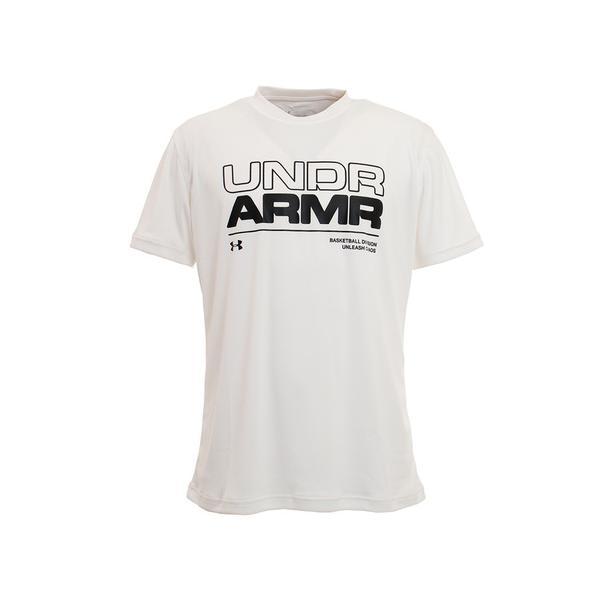 アンダーアーマー(UNDERARMOUR)Tシャツメンズ半袖ベースラインルーキー1353623WHTBK バスケットボールウェア