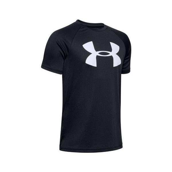 アンダーアーマー(UNDERARMOUR)ボーイズテックビッグロゴTシャツ1351850BLK/WHTAT半袖オンライン価格(キ