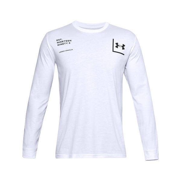 アンダーアーマー(UNDERARMOUR)1996長袖Tシャツ1357178WHT/BLKAT(メンズ)